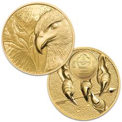 2020 Mongolia 1/10 oz. Gold 1000 Togrog Majestic Eagle