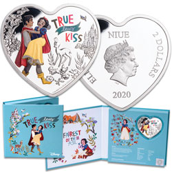 2020 Niue 1 oz. $2 Silver Disney Love - Snow White