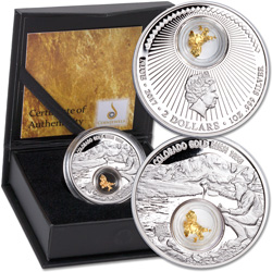 2017 Niue 1 oz. Silver $2 Colorado Gold Rush