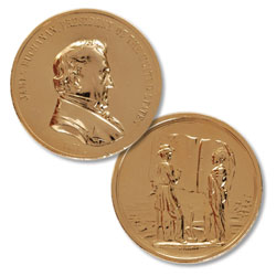 Gold-Plated James Buchanan Medal