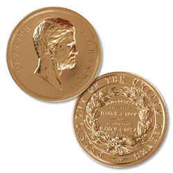 Gold-Plated Ulysses S. Grant Medal