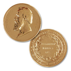 Gold-Plated Rutherford B. Hayes Medal