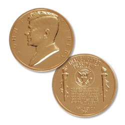 Gold-Plated John F. Kennedy Medal