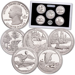 2018-S America's National Park Quarters 90% Silver Proof Set