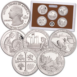 2019-S America's National Park Quarters Clad Proof Set