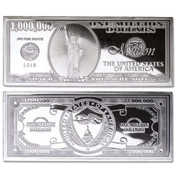 2018 4 oz. Silver Million Dollar Bill