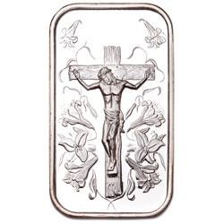 1 oz. Silver Jesus Bar