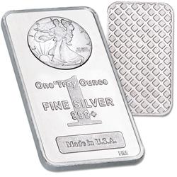 1 oz. Liberty Walking Silver Bar