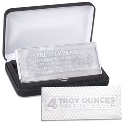 4 oz. Silver Bar - Serenity Prayer