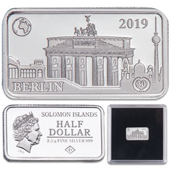 2019 Solomon Islands Silver 50 Cents Famous Landmarks - Berlin, Germany