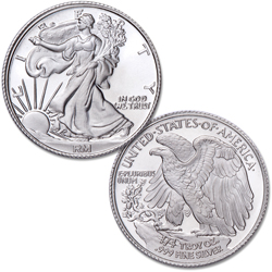 1/4 oz. Liberty Walking Silver Round