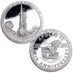 Apollo 11 Liftoff 1 oz. Silver Round