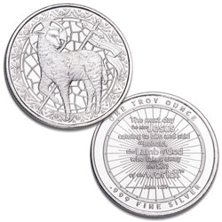 Lamb of God 1 oz. Silver Round