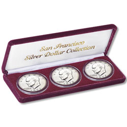 1971S-1973S 40% Silver Eisenhower Dollar Set (3 coins), Uncirculated