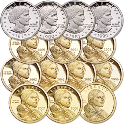 1979-2009 Proof Deluxe Small Dollar Set