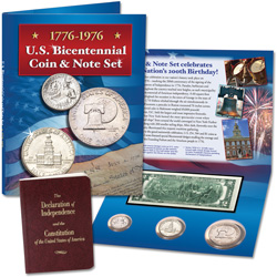 U.S. Bicentennial Coin and Note Set