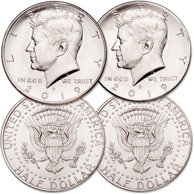 2019 P&D Kennedy Half Dollar Set