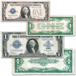 Last Large-Size and First Small-Size $1 Silver Certificate Set (2 notes)