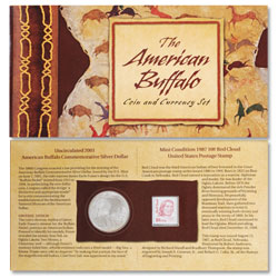 2001-D American Buffalo Commemorative Coin & Stamp Set