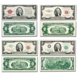 1928-1976 Complete Type Set of $2 Notes