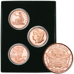 1 oz. Copper Rounds Set (3 coins)