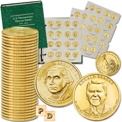 2007-2016 Complete P&D Presidential Dollar Set with Album
