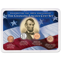 Changing Lincoln Head Cent Showpak (4 coins)