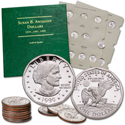 1979-1999 Susan B. Anthony Dollar Set With Album
