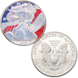 2017 Colorized & Hologram Silver American Eagle
