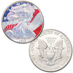 2019 Colorized & Hologram Silver American Eagle