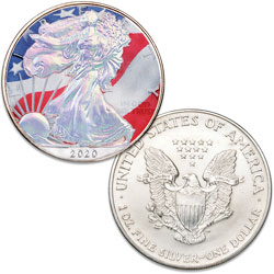 2020 Colorized & Hologram Silver American Eagle