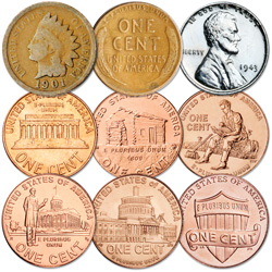 1860-2010 150 Years of Penny Designs
