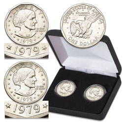 1979 Near & Far Date Susan B. Anthony Dollar Set with Case