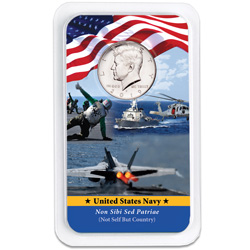 2019 Kennedy Half Dollar in U.S. Navy Showpak