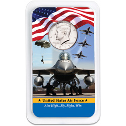2019 Kennedy Half Dollar in U.S. Air Force Showpak
