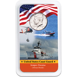 2019 Kennedy Half Dollar in U.S. Coast Guard Showpak