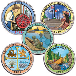 2019 Colorized National Park Quarter Year Set