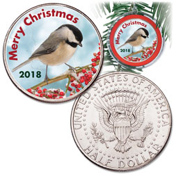 2018 Colorized Christmas Coin Ornament