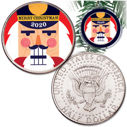 2020 Colorized Kennedy Half Dollar Nutcracker Ornament