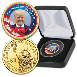 2020 Colorized Nominee Presidential Dollar - Donald Trump