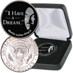 "2018 Colorized ""I Have a Dream"" Kennedy Half Dollar with Case"