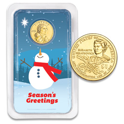 2020 Native American Dollar in Season's Greetings Showpak