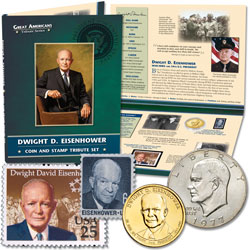 Eisenhower Coin & Stamp Tribute Set