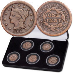 1816-1856 Large Cent Decade Set