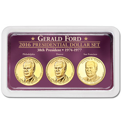 2016 Gerald R. Ford Presidential Dollars in Exclusive PDS Showpak
