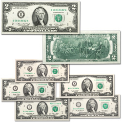 1976-2013 $2 Federal Reserve Note Signature Set