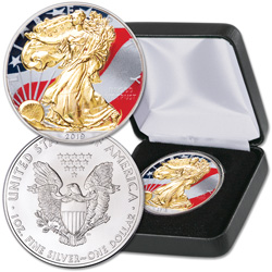 2019 Colorized & Gold-Plated $1 Silver American Eagle