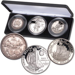 1892-1992 Columbus Commemorative Set in Display Case