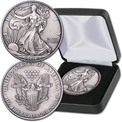 2018 Antique Finish $1 Silver American Eagle