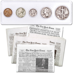 1941 Year Set with WWII Newspaper Reprints